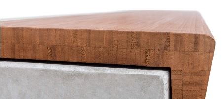 bamboe op betonnen zitelement