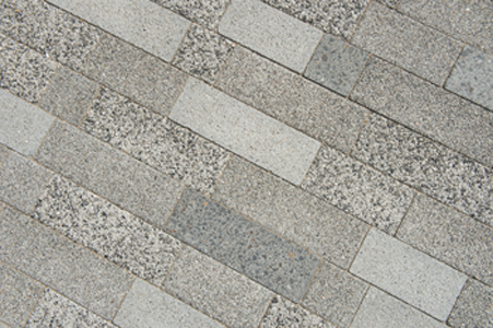 mixpakket: betonstraatstenen met verschillende nabewerkingen