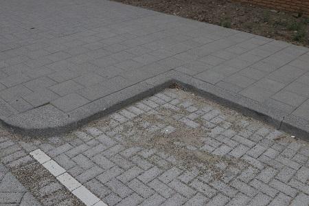 parkeervak met uitwendig hoekblok en inwendig hoekstuk