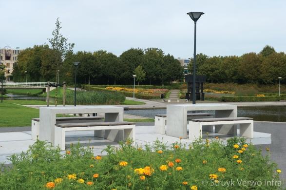 betonnen picknick set|betonnen parkbank