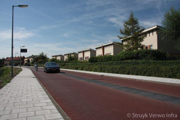 Fietsstraat met geleider fietspad