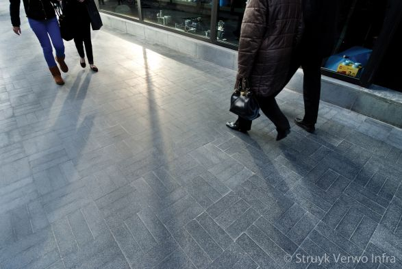 Winkelcentrum De Munt te  Roeselare (BE) luxe bestrating