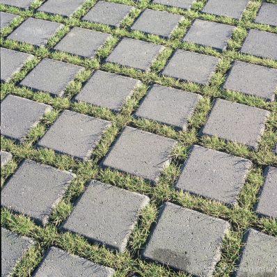 Groenbestrating op parkeerplaats|grasstraat|groenbestrating|grasklinker