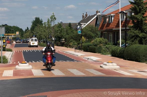 Stille straatsteen snelheidsremmend