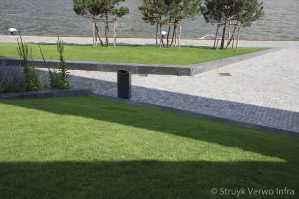 Project Leuvehaven betonband geslepen