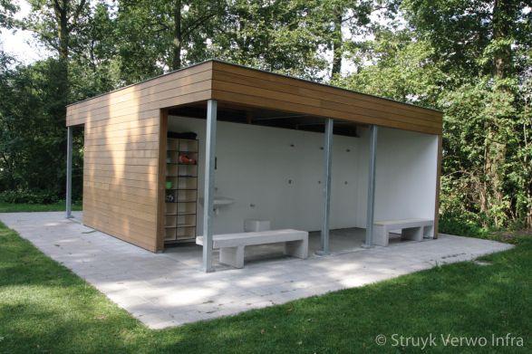 Link banken met hout - Maarssen|parkbank|buitenmeubilair beton