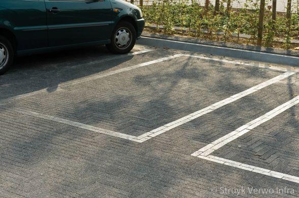 Belijning parkeervakken met liscio 24x6x8 tagenta a|elementenverharding