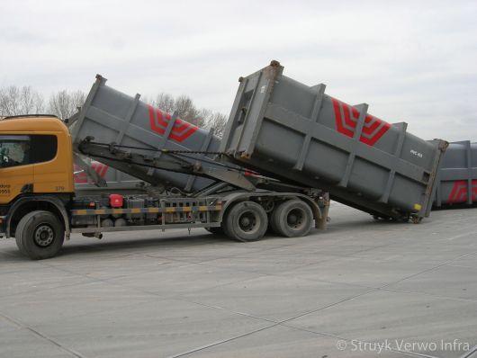 Vloerplaten toegepast in container terminal|container lossen op vloerplaten