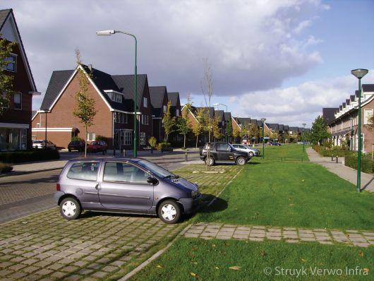 parkeerplaats waterdoorlatende bestrating