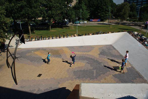Mix van diverse kleuren keranova|gekleurde betonklinkers