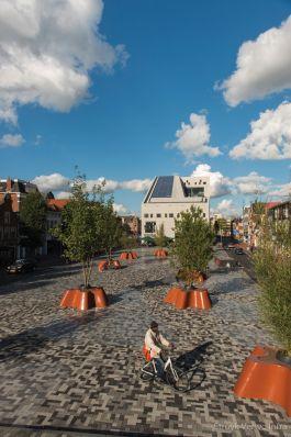 Herinrichting Damsterdiep Groningen breccia tagenta
