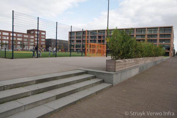 Gestraalde traptreden|Theo van Goghpark IJburg Amsterdam
