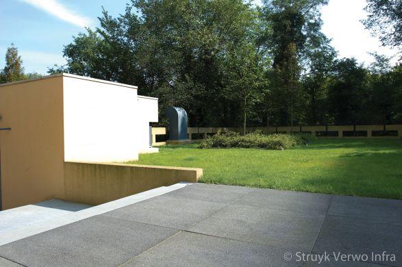 Grootformaat stenen zwart|gewassen betonstraatsteen
