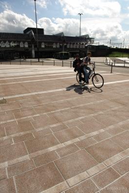 Stroken bestrating voor kantorenpark|bestrating voetgangersgebied
