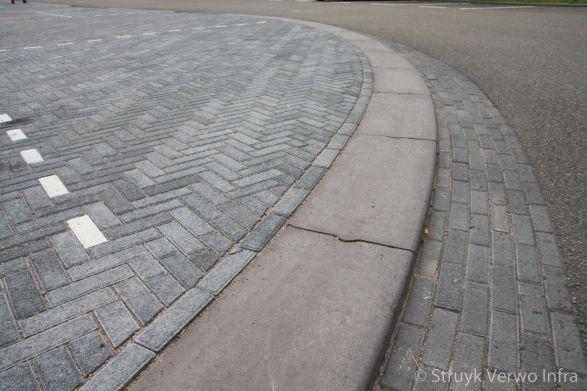 Brede trottoirband|Gemboterrein Amsterdam|zware trottoirband|brede betonband