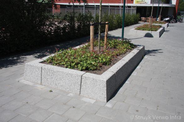 Bloembak hoekstukken 20/40x70|bloembakband|afboorden plantvakken