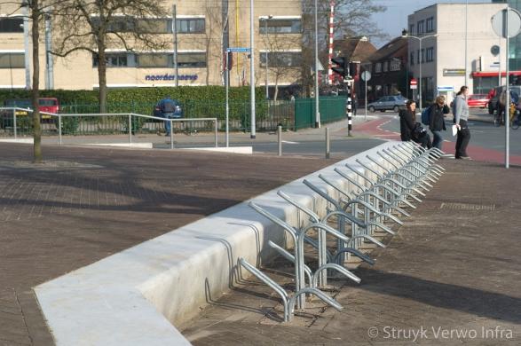 betonnen zitelementen|solids|De Vorstin in Hilversum|Parkeren fiets|