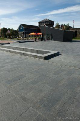 Geslepen bestrating in verschillende formaten|Bataviaplein|inrichting voetgangerszone