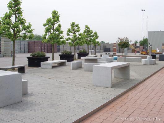 Betonnen picknickset|betonnen parkbank