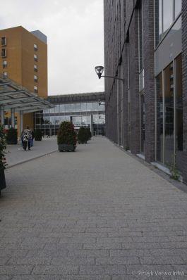 Strokenpatroon betonstraatstenen|Breccia grigio