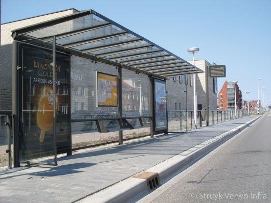 Kolk bij bushalte|Busbaan Vleuterwijde