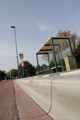 Profiel bushalteband|aansluiting busbaanband met wegdek