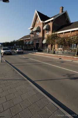 Gescheiden fietspad stationsgebied