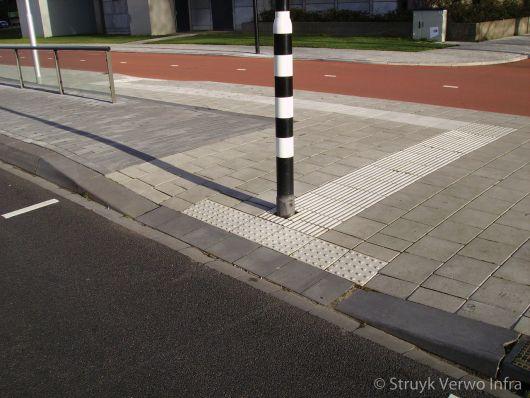 Inritverloopband in bushalte