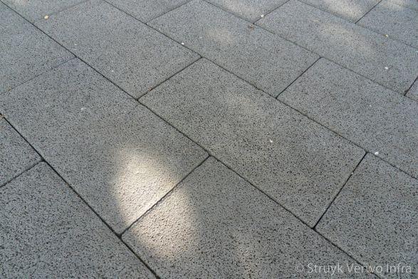 Drainage stenen 40x20 in halfsteensverband