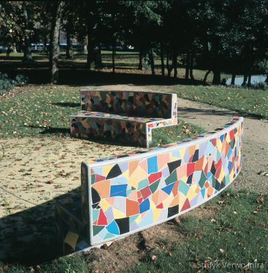 bank met mozaiek Oosterbeek