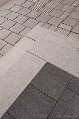 Geslepen traptreden grijs|Rompertpassage Den Bosch|traptrede beton