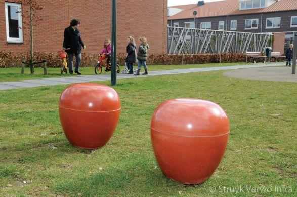 Betonnen zitpoef voor kinderen|betonnen zitelement