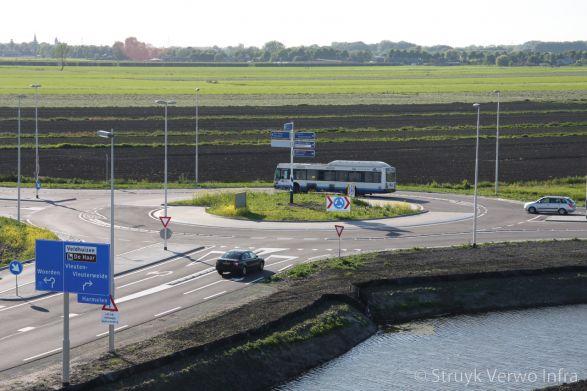 Turborotonde aansluiting A12 Leidse Rijn