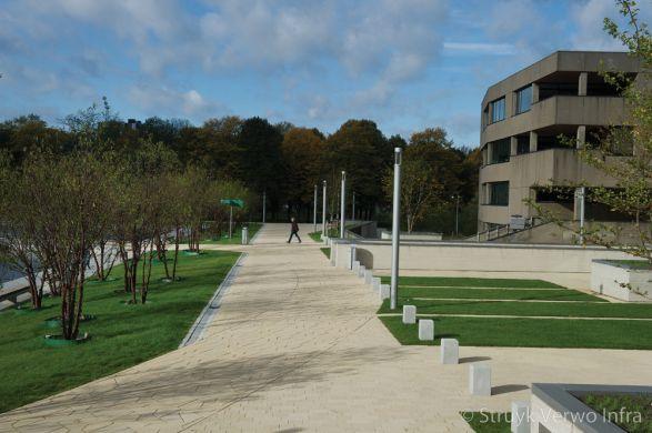 Siercarrévierkant 30|Breccia babyparksteen|betonnen poef vierkant|betonnen afzetpaal