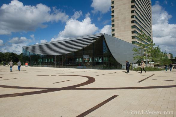 Buitenterrein Erasmus Universiteit in Rotterdam