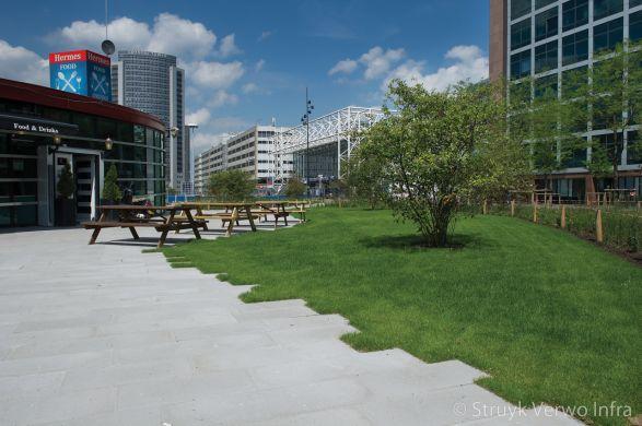 Betonstraatstenen 90x30 grijs|Herinrichting Orlyplein Amsterdam