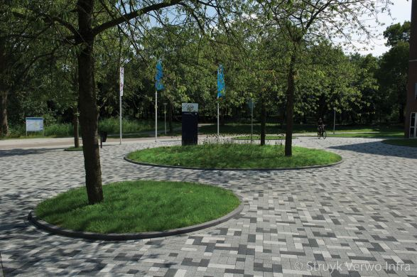 Bestrating wildverband in diverse kleuren|Campus Diemen Zuid