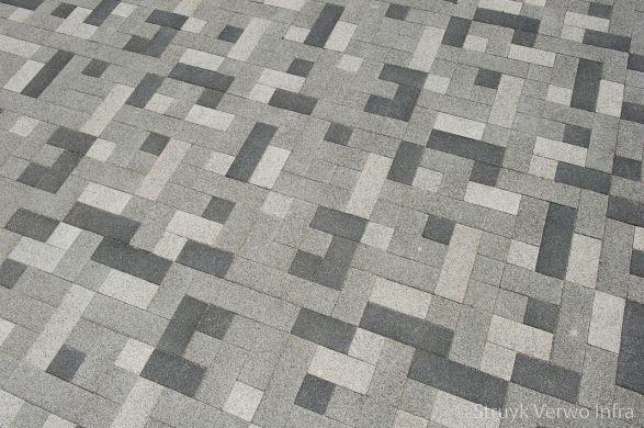 Lavaro betonstraatstenen wit, grijs en zwart gemixed