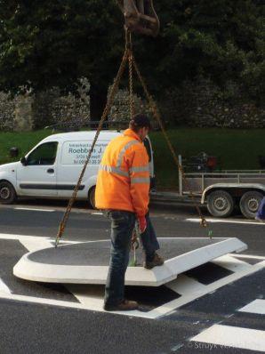 Verwijderbare verkeersgeleider|demontabel verkeerseiland