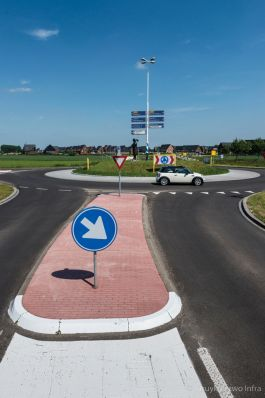 Rotonde rammelstrook Provincie Gelderland