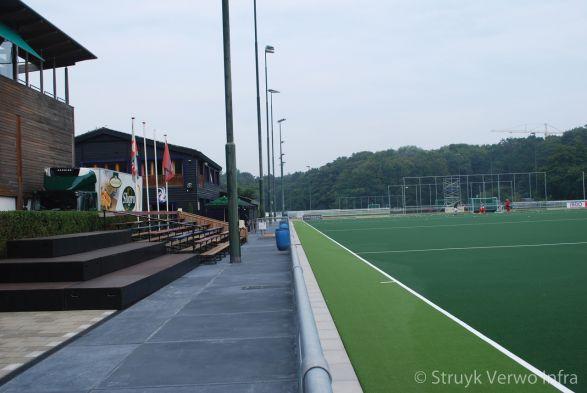 Vloerplaten toegepast op sportclub|Hockeyclub Klein Zwitserland
