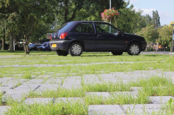 Groenbestrating op parkeerplaats|Ursula park land van Boer Bos|grasklinker