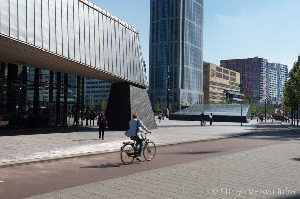 Trottoirbanden grijs 712|Conradstraat Rotterdam|herinrichting busstation