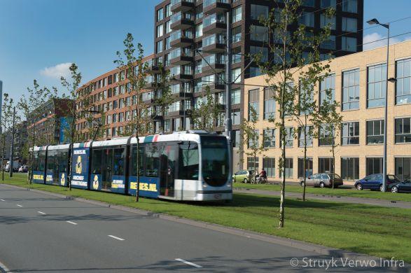 Laan op Zuid Rotterdam bloembak