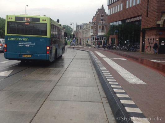 Vloerplaat toegepast bij een bushalte
