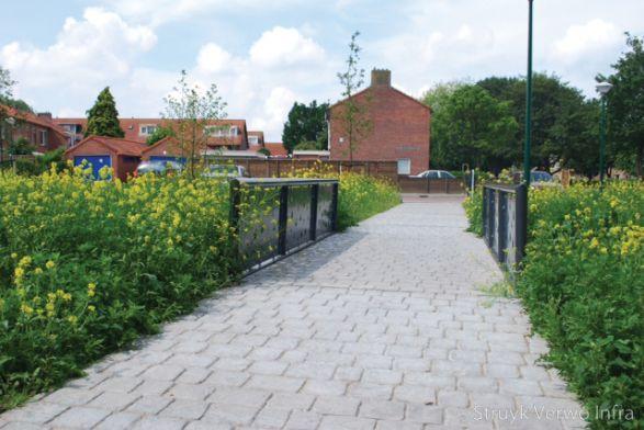 Cobblestone park Woerden|vloerplaat cobblestone