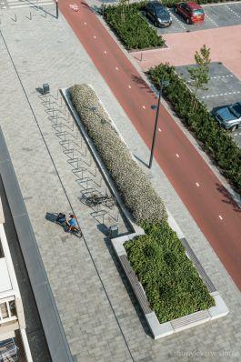 bovenaanzicht bestrating|Chopinplein in Culemborg|inrichting winkelcentra