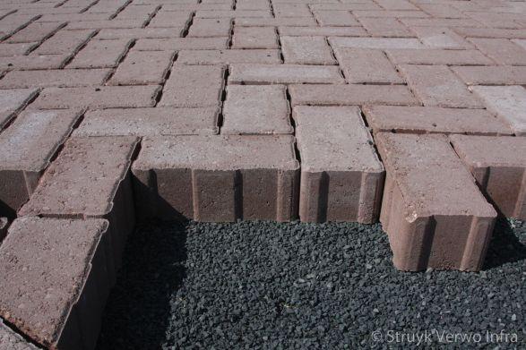 H2O-stenen op straatlaag met kepersteen
