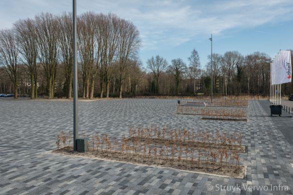 Mix bestrating breccia tagenta|kleurvaste betonstraatstenen