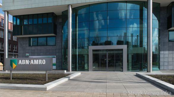 Border van beton|ABN Amro den Haag|plantvakken beton